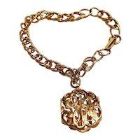 Vintage Sarah Coventry Gold Tone Signet Bracelet