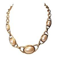 Vintage Napier Faux Pearl Choker Necklace