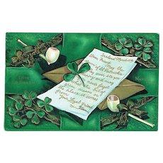Vintage Postcard St. Patrick's Day Erin Go Bragh