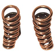 Vintage Renoir Mid Century Modern Copper Looped Wire Clip Earrings