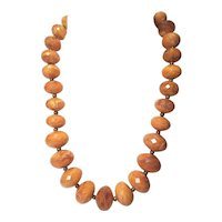 Vintage Avon Fall Color Lucite Chunky  Butterscotch Marbled Color Necklace