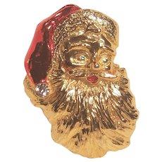 Vintage Santa Claus Christmas Pin