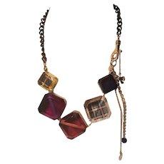 Vintage Lucite Betsey Johnson  A Symmetrical Statement Necklace