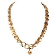 Vintage Anne Klein Modern Linked Toggle Clasp Necklace
