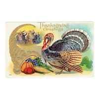Vintage Turkey Postcard Thanksgiving Greetings
