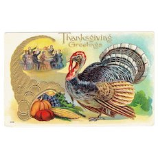 Vintage Turkey Postcard Thanksgiving Greetings