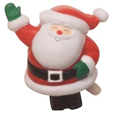 Vintage Christmas Hallmark Waving Santa Pin 1988