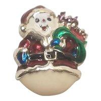 Vintage Christmas Pin Enamel Snowman by Danecraft