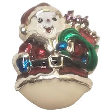 Vintage Christmas Pin Enamel Snowman by Danecraft