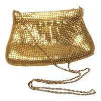 Vintage Gold Mesh Evening Bag 43 Handle