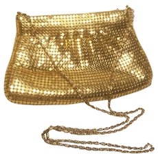 Vintage Gold Mesh Evening Bag 43 Handle