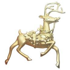 Vintage Christmas Prancing Reindeer Pin