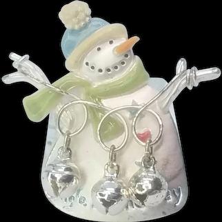 Vintage Christmas Snowman Pin Jingle All The Way