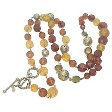 Vintage Monet Fall Colors 36 in Necklace with Toggle