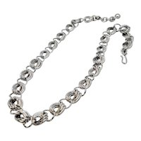 Vintage Monet Silver Tone Bold Linked Chain