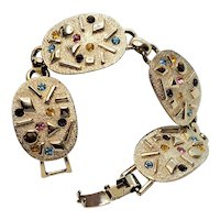 Vintage Sarah Coventry Sultana Mid Century Modern Bracelet