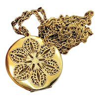 Vintage Gold Filled 10K Filigree Double Sided Locket