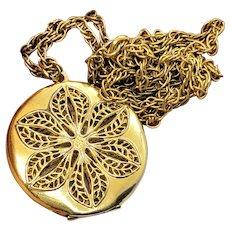 Vintage Gold Filled 10K Filigree Double Sided Locket