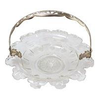 Vintage Beautiful Crystal Bridal Wedding Basket