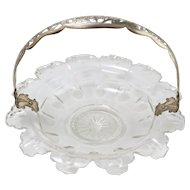 Vintage Beautiful Crystal Bridal Wedding Basket