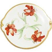 Vintage Limoges Hand-Painted Poppy Flower Platter