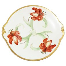 Vintage Limoges Hand-Painted Poppy Flower Platter
