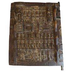 Antique 19th Century African Carved Wooden Door Panel