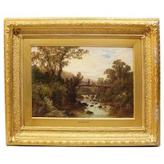 Beautiful Antique Robert Gallon (1845-1925) Scenic Oil Painting