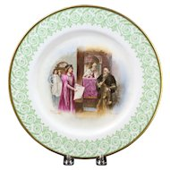 "Limoges Elite France Hand Painted 'The Merchant of Venice"" Shakespearean Scene Plate"