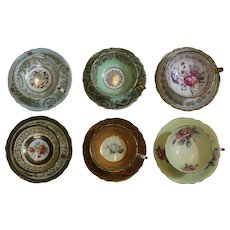 Set Of  Hand Painted Tea Cups And Saucers By Paragon By Appointment Of The Queen
