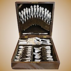 Wallace Grand Baroque Sterling Silver Flatware Set 145 Pcs