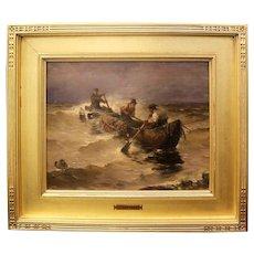 Antique Joseph Wopfner 1843-1927 German Oil Painting on Board