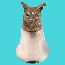 Vintage Fox Head Fluted Silver Plated Goblet Cup