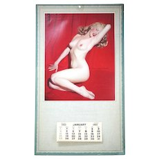 "Vintage 1953 Marliyn Monroe Pinup Calander "" Golden Drerams"""