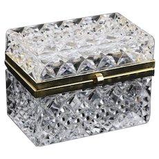 Crystal Clear Jewlery Casket With Brass Hardware