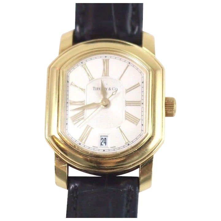 74e5a5f38 Tiffany & Co. 18k Yellow Gold Mark Coupe Automatic Watch Roman Dial ...