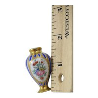 Minuature French Hand Painted Floral Vase Sales Sample 2'