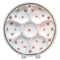 Victoria Austria Floral Designed Oyster Plate