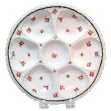 Victoria Austria Floral Designed Oyster Plate