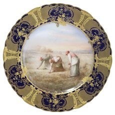 Vintage Havilland & Co Limoges Collectors Plate - French Women Working in Field