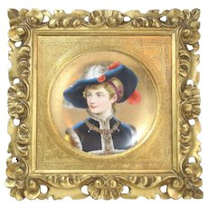 19th Century Porcelain Hand Painted Portrait