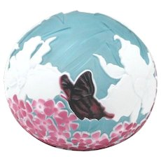 Kelsey Pilgrim Lily Butterfly Cameo Paperweight