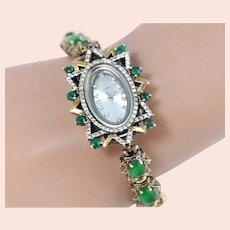 Vintage Sterling Silver Costume Dressy Ladies Bracelet Watch