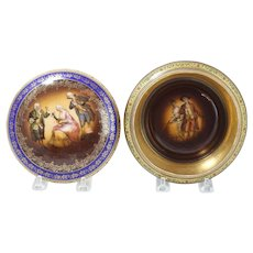 Vienna Style Lidded Porcelain Box With Musicians Scene