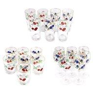 Wedgwood Fruit Decor Wine and Rock Glass Set of 22