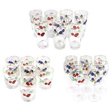 Wedgwood Fruit Decor Wine and Rock Glass Set of 22
