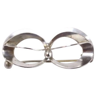 NE FROM Contemporary Artist Denmark 925 Sterling Silver Floral Pin/Brooch