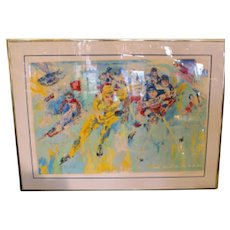 "Leroy Neiman ""Lake Placid"" 1980 Signed And Numbered Serigraph"