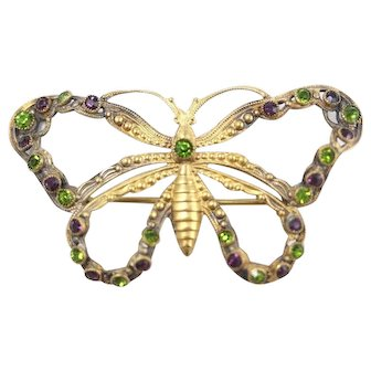 Vintage 1910 Butterfly Pin/Brooch