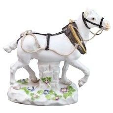 19th Century Meissen Porcelain Lippazan Horse Figurine